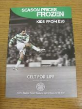 2009/2010 Celtic: Season Ticket Renewal Brochure. Thanks for viewing this item a