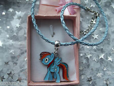 MY LITTLE PONY RAINBOW DASH  18 INCH BLUE  TWIST LEATHERET, GIFT BOX ,MAGIC