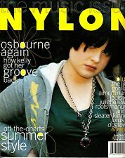 Nylon Magazine June/July 2005 Kelly Osbourne Gorillaz Sleater-Kinney Summer