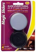 Magic Sliders  Plastic  Floor Slide  Gray  Round  2-3/8 in. W 4 pk Self Adhesive