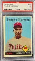 1958 Topps Baseball #433  PANCHO HERRERA PSA 5 Rookie Non - Error Card SP