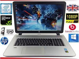 "17.3"" HP Envy 17 Gaming Laptop i7 up to 3GHz 12GB 1000GB SSHD GTX beatsaudio"