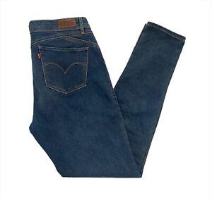 Levi's Women's Mid Rise Skinny Stretch Fit Blue Denim Jeans W34 x L31
