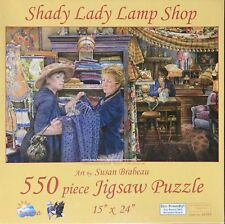 """SHADY LADY LAMP SHOP"" SUNSOUT COMPLETE 550 PIECE PUZZLE SUSAN BRABEAU"