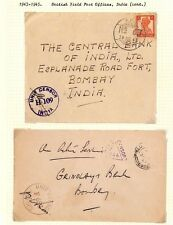 AX148 1943-45 WW2 INDIA British FPO Covers {2}