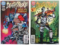 Deathstroke 58 and 59 Lot Teen Titans villain Joker Cover homage 1996 DC Comics
