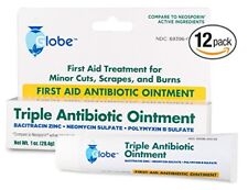 12 Tubes of Triple Anti. First Aid Ointment (Compare to Neosporin) 1 OZ Ea.