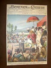 Copertina La Domenica del Corriere 16 febbaio 1936 La maledizione di Ras Destà