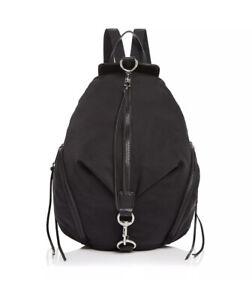 Rebecca Minkoff Julian Mini Backpack Black Nylon Canvas One Size Silver Hardwear
