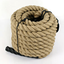 "1-1/2"" Heavy Duty Manila Rope 50ft Nautical Boat Fitness Exercise Boxing Fence"