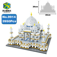 BS World Architecture Taj Mahal Palace Diamond Mini DIY Building Nano Blocks Toy