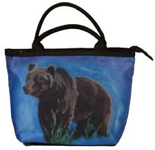 Grizzly Bear Handbag- Small Purse -From my Original Painting, Brave