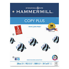 Hammermill Copy Plus Copy Paper 3-Hole Punch 92 Brightness 20lb Ltr White 500