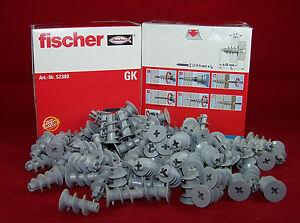 Fischer 52389 Gipskartondübel GK Hohlraumdübel Rigipsdübel Dübel 10 20 50 100 St