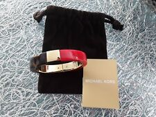 Org. MICHAEL KORS Armband Armreif Gold/Rot/Braun