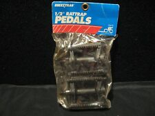 """90's 1994 Cycle Products 1/2"""" Rattrap Pedals Plastic BMX Bicycle w/Reflectors"""