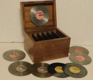 Thorens AD30  Disc Organizer Storage Box  & 8 Discs Lot