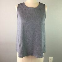 Papermoon Stitch Fix Womens Top Open Back Button Shoulder Textured Cotton Size S