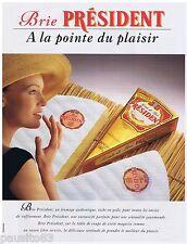 PUBLICITE ADVERTISING 105  1993  PRESIDENT  fromage la POINTE DE BRIE