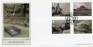 St Helena People Stamps 2021 FDC Death of Napoleon Bonaparte Exile 4v Set
