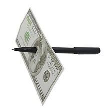 Crude Pen Thru Bill Magic Tricks Dollar Penetration Money Close Up Gimmicks Prop