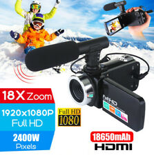 4K 1080P HD 24MP 18X ZOOM 3'' LCD 18x Digital Video Camera Camcorder DV with Mic