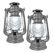 2x Rustikale Laterne Hurricane III Retro Lampe 15 LEDs inkl. Batterien Heitech