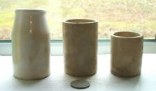 THREE NICE different VICTORIAN CONDIMENT POTTERY  CROCKS