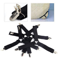 4pc Triangle Bed Sheet Mattress Fasteners Clips Grippers Suspender Straps Holder