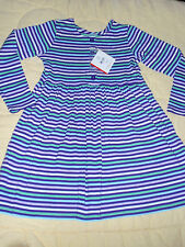 NWT Hanna Andersson Long Sleeve Girls Striped Play Dress 120 7 US NEW