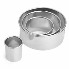 Deep Round Cookie Cutter Set of 4 Stainless Steel Scone