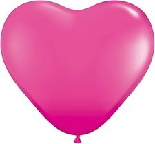 Qualatex 30213 Wild Berry Heart Party Balloons 6-inch