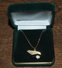 "Harley-Davidson Necklace Winged Tank sterling pendant, 14k gold filled 18"" chain"