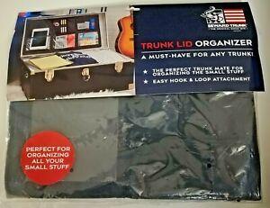Trunk Lid Organizer Hook & Loop Application Black Mesh Pockets Seward Sealed NIP