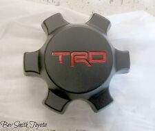 NEW OEM TRD TOYOTA TACOMA & FJ CRUSIER BLACK CENTER CAP W/ RED LOGO QTY 1