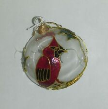 Christmas Holiday Ornament - Clear Red Bird / Cardinal