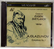 GLAZUNOV Symphony No.3 / SVETLANOV - CD MELODIYA SEALED