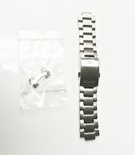 Edifice Casio Stainless Steel 22mm Fold Over Clasp with Deployment Buckles Matte