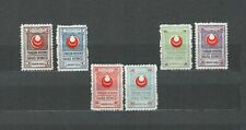 TURKEY EUROPE  COLLECTION RED CRESCENT UNLISTED SET MH STAMPS  LOT (TUR 67 )