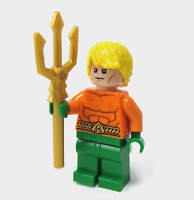 LEGO Super Heroes DC Aquaman Minifigure w/ weapon From set 76027 & 76000 new