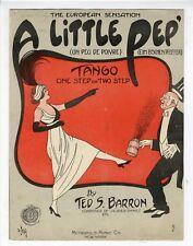BALLROOM DANCE CRAZE TANGO Sheet Music 1914 Little Pep