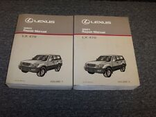 2001 Lexus LX470 SUV Workshop Shop Service Repair Manual Book Set 4.7L V8