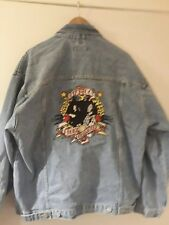 Rory gallagher Stunning Stonewash tattoo lady denim jacket..NEW with tags XL
