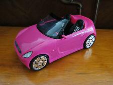 Barbie Glam Hot Pink Convertible Sports Car W/Zebra Striped Seats & Shinny Wheel