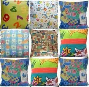 Children Nursery Playroom animal boat flower teddy butterfly print cushion cover