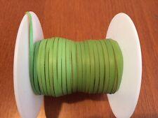 "Kangaroo Lace NEW LIME/APPLE Kangaroo Leather Lacing 3mm 1/8"" Width 10m hanks"