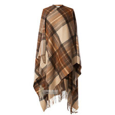 EDINBURGH - SOFT & WARM LAMBSWOOL FULL-SIZE LADIES CAPE - STEWART NATURAL DRESS