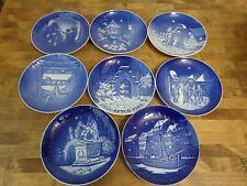 Bing and Grondahl - Christmas Plates - 1980s Set of 8 Jule-After Denmark