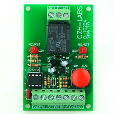 Panel Mount Momentary-Switch/Pulse-Signal Control Latching SPDT Relay Module,5V