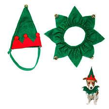Dog / Cat Novelty Felt Christmas Xmas Collar & Hat- Animal Clothing Set For Pets
